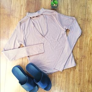 Zara Ribbed Cutout Cropped Top